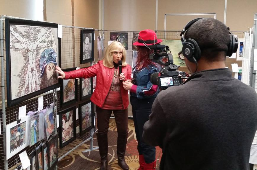 Heidi being interviewed by the media at a recent show