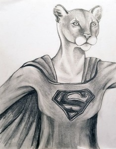 Supergirl pencil