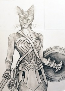 wonderwoman pencil